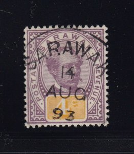 Sarawak Scott # 11 VF used neat cancel with nice color scv $ 65 ! see pic !