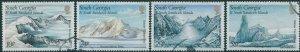 South Georgia 1989 SG187-190 Glacier Formations set FU