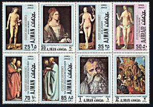 Ajman Michel 637 A-644A, MNH, 500th Anniversary Birth of Albrecht Durer