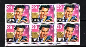 Elvis #2721  Block of 6   used