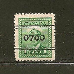 Canada 249 0700 Precancel Used