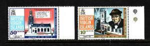 Virgin Is.-Sc#278-9-unused NH set-Winston Churchill-1974-