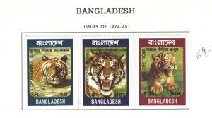 BANGLADESH 1974 SAVE THE TIGER - WWF #69-71  MH