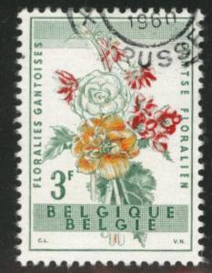 Belgium Scott 541 used  1960 Ghent Flower stamp