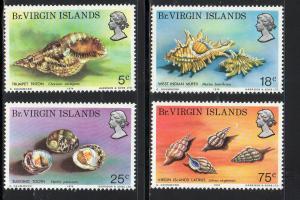 VIRGIN ISLANDS #274-277  1974  SEA SHELLS        MINT VF NH O.G