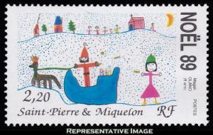Saint Pierre & Miquelon Scott 521 Mint never hinged.