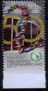 MEXICO 2918Var, 50th Anniv. Latin American Parliament. MNH