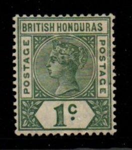 British Honduras Sc 38 1891 1c green Victoria stamp mint