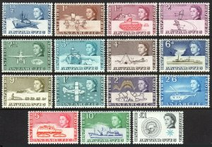British Antarctic Territory 1-15, MNH. Antarctic Expedition. Ships, Plane, 1963