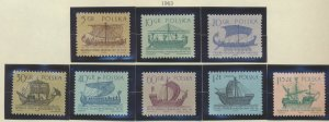 Poland Stamps Scott #1124 To 1131, Mint Lightly Hinged - Free U.S. Shipping, ...