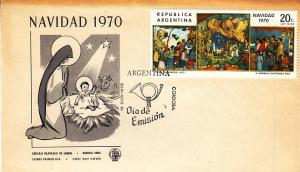 Argentina #949 FDC     Christmas