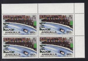 Anguilla 1980 MNH Olympic games Lake Placid cornerblock 50c