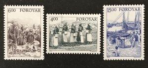 Faroe Islands 1995 #290-92, MNH, CV $8.75