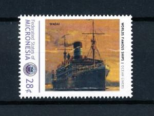 [90661] Micronesia  Ships Wadai Ocean Liners Woermann  MNH