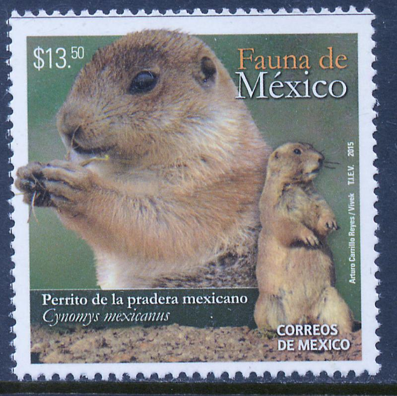 MEXICO 2957, MEXICAN PRAIRIE DOG Conservation Issue. MNH