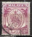 Malaya Negri Sembilan; 1949: Sc. # 46; O/Used Single Stamp