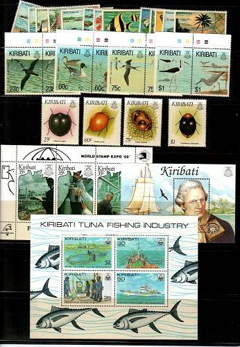 Kiribati Mint NH sets and S/S lot - Catalog Value $64.75 [TC785]