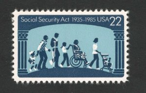 2153 Social Security Act US Single Mint/nh FREE SHIPPING