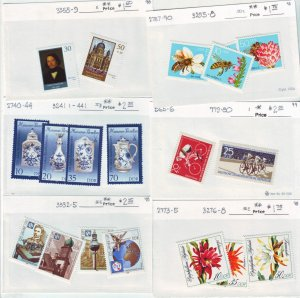 Z522 Jlstamps germany ddr mh/mnh all dif sets lot appears to be under ca98-9 scv