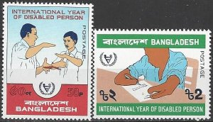Bangladesh  204-5  MNH  WHO  International Year of Disabled Person
