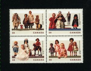 Canada #1277a Mint VF NH block  PD