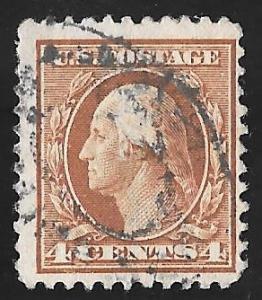 503 4 cents Washington, Brown Stamp used AVG
