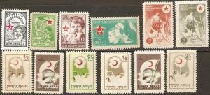1940-1957 Turkey Scott RA43//RA209 Charity Collection MNH