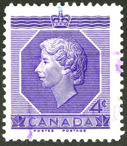 CANADA #330 USED VIOLET CANCEL