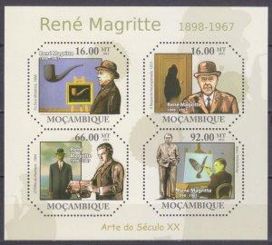 2011 Mozambique 4692-4695KL Artist / Rene Magritte 11,00 €