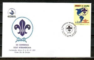Bolivia, Scott cat. 1155. Scout Conference issue. First day cover. ^