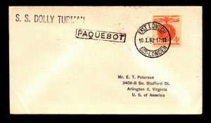 1962 US Paquebot / SS Dolly Truman / East London - L14318