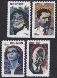 US 5471-5474 Voices of the Harlem Renaissance forever set (4 stamps) MNH 2020