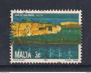 MALTA 1995 QE2 3ct Valletta used ( J180 )