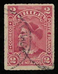 1900, Christopher Columbus, Chile, 2 centavos, SG #83 (Т-8170)