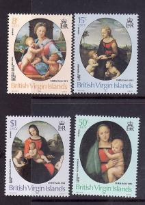 Virgin Is.-Sc#458-61-unused NH set-Christmas-Raphael-Paintings-Art-1983-