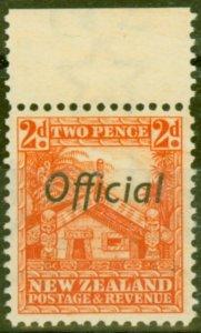 New Zealand 1938 2d Orange SG0123c P.14 Very Fine MNH