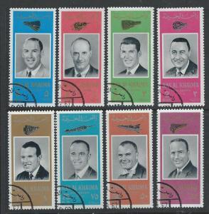 RAS AL KHAIMA SC# 48-55 MICHEL VF U 1966