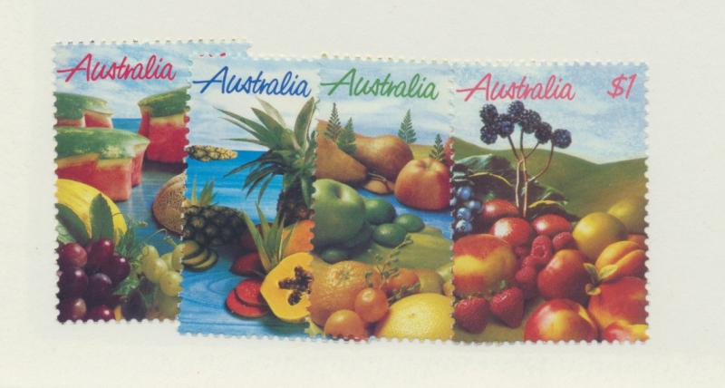 Australia Scott #1015 To 1018, Fruits Issue From 1987 - Free U.S. Shipping, F...