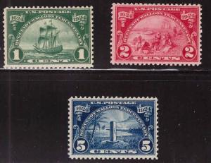 USA Scott 614-616  MH* Huguenots -Walloon MH* set