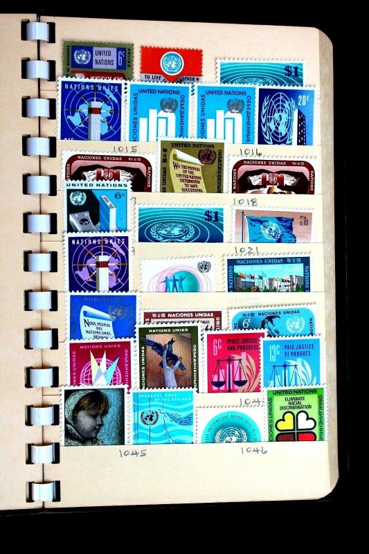 United Nations 117 Stamps Nice small collection of MNH, MH & Used in Stock Book