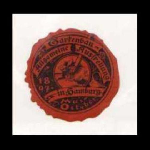 Germany 1897 Hamburg Horticulture Expo Diecut Seal
