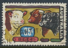 Australia  SC# 522 Beef Industry 1972   SG 513  Used   as per scan