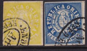 URUGUAY 2 old forgeries of this classic issue...............................5402