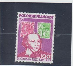 French Polynesia  Scott#  322  MNH  (1979 Sir Rowland Hill)