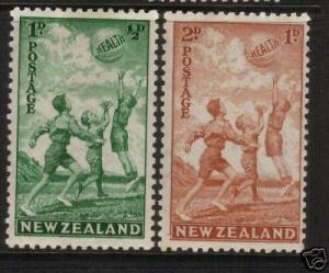 NEW ZEALAND 1940  HEALTH  BEACHBALL SET 2  MNH