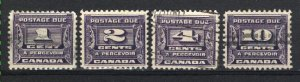 Canada #J11-14   u VF 1933 PD