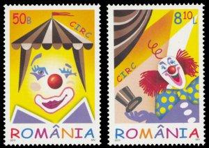 Romania 2011 Circus Scott #5272-5273 Mint Never Hinged