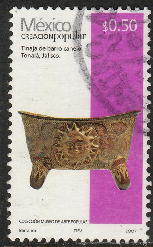 MEXICO 2488b, 50c HANDCRAFTS 2007 ISSUE. USED. F-VF.(1512)