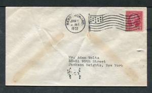 Postal History - Newburgh IN 1932 American Flag AMF-A14 Cancel Cover B0379