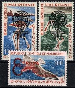 Mauritania #C14a-16a MNH CV $24.00 (X2681)
